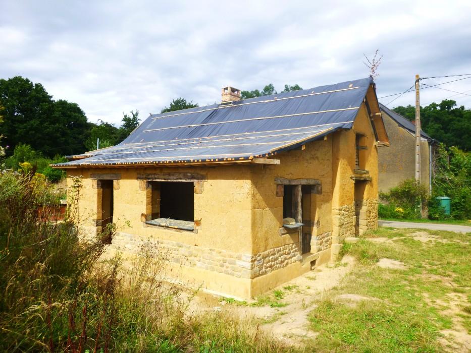 extension de maison en bauge à Dingé