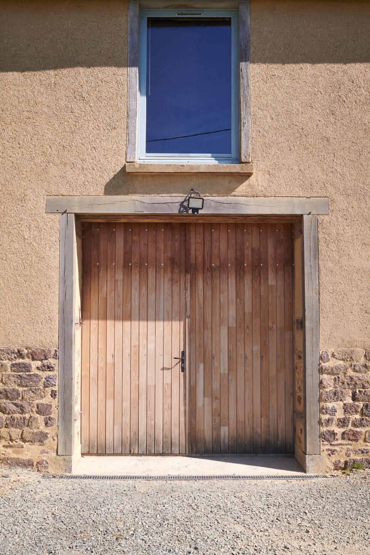 porte de garage en chataignier